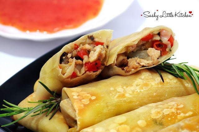 Sashy Little Kitchen Lumpia Ayam Jamur Oven Panggang Lumpia Semarang Makanan Panggang
