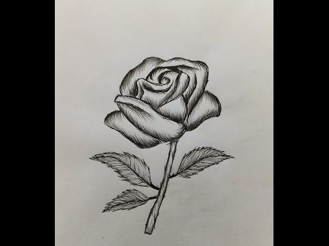 39 How To Draw A Rose Easy For Beginners Youtube Drawings Crochet Rose Draw