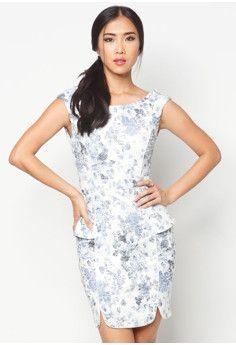ZALORA Printed Cap Sleeves Sheath Dress #onlineshop #onlineshopping #lazadaphilippines #lazada #zaloraphilippines #zalora