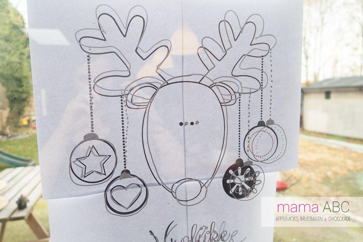 Raam Versieren Voor Kerst Met Krijtstiften Diy Mama Abc Kerst Kerst Ramen Krijtstift