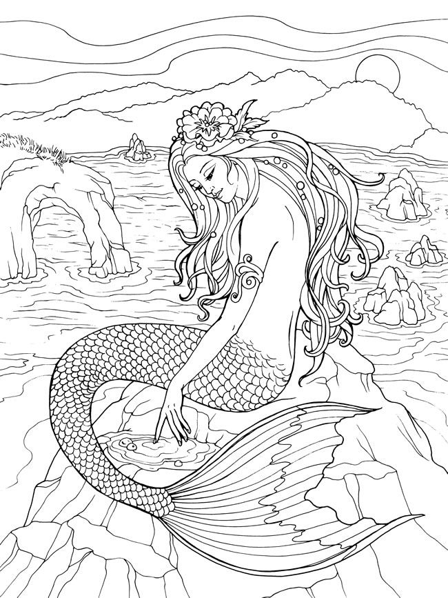 Welcome To Dover Publications Mermaid Coloring Pages