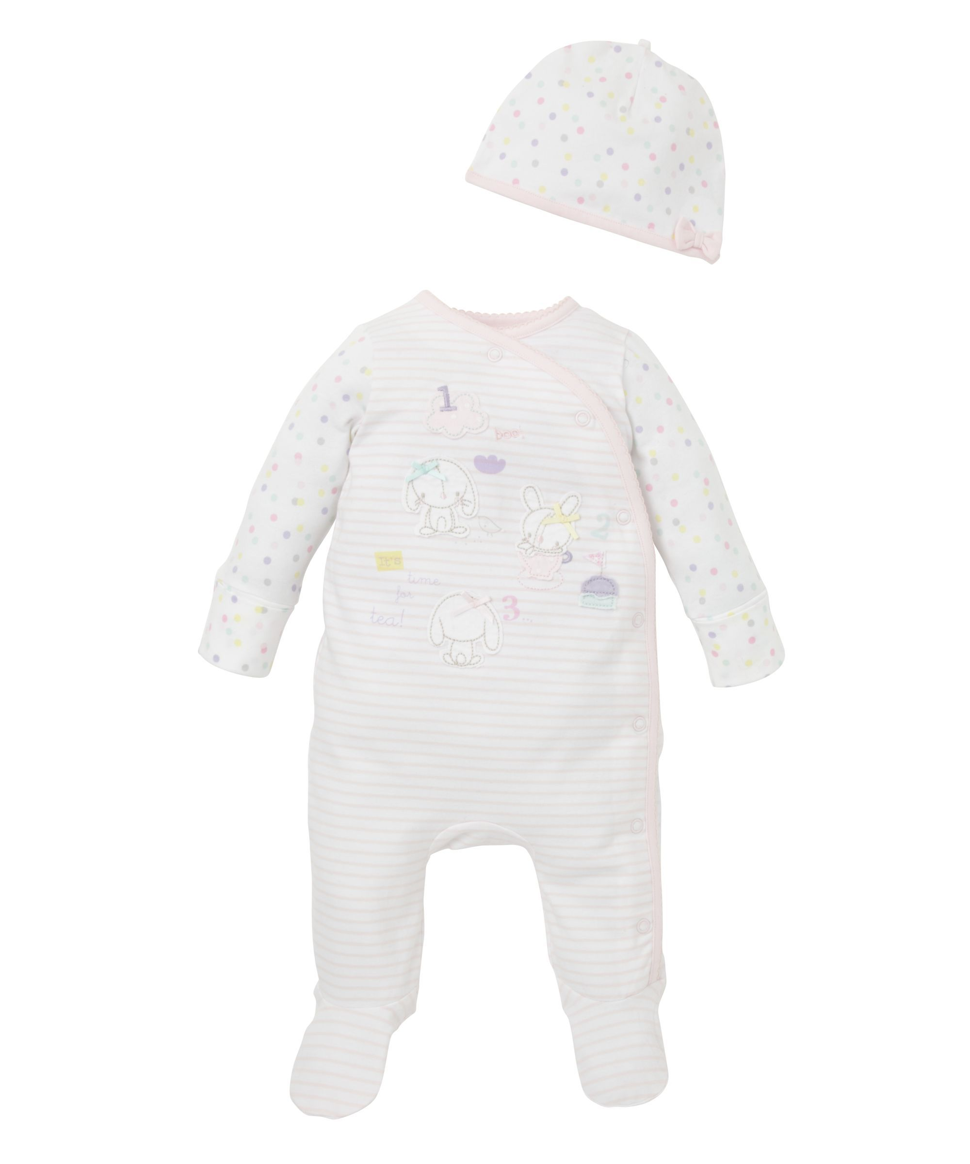 Bunny All In One And Hat | Mothercare   (0 3 Months) £