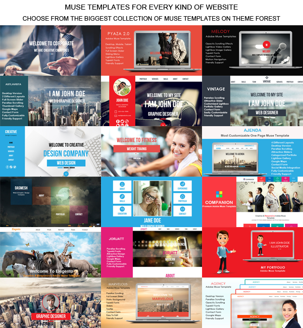 Muse Templates Books Market Creative Landing Page Template Themeforest