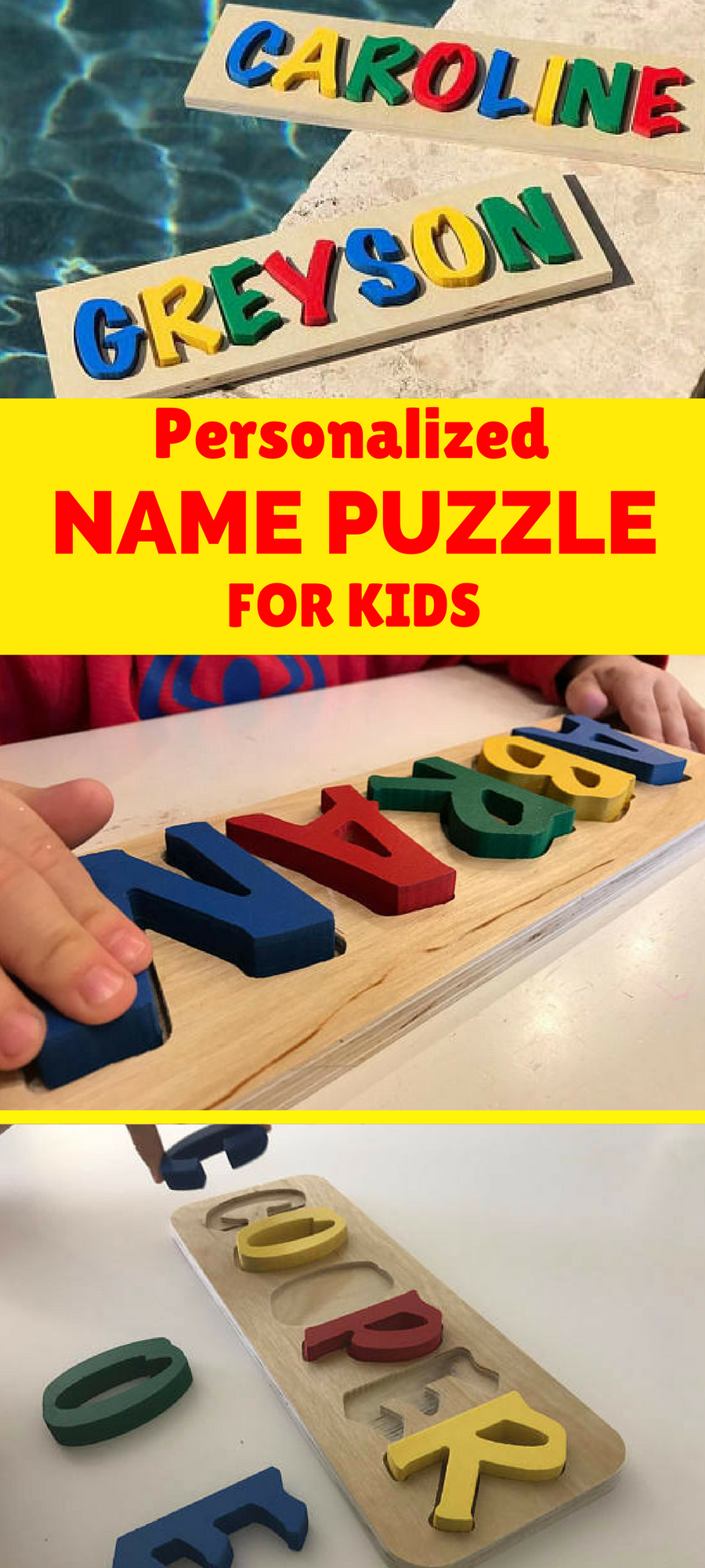 Get Them This Fun Name Puzzle Personalized With Their Own Ad Kid Activities Puzzles Toddler Gifts