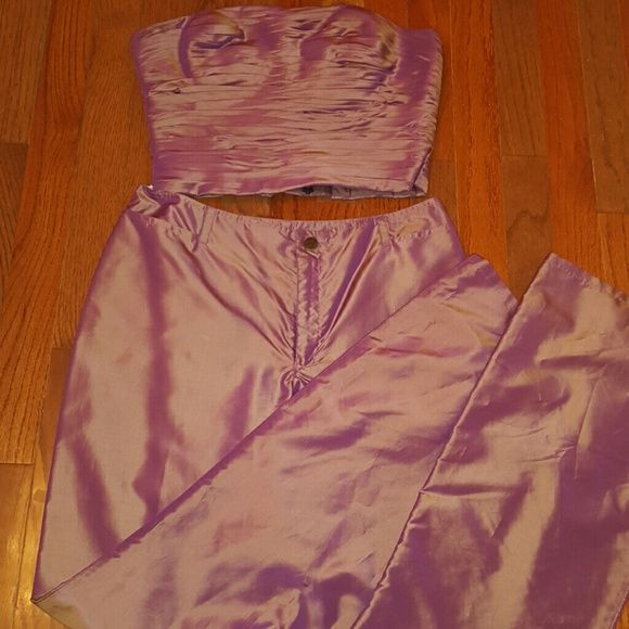 2 Piece Set Oleg Cassini Strapless Top w/ matching bottoms... worn once.. excellent condition Oleg Cassini Other