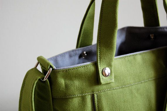 There's a pocket for your Kindle. I want!! Packet in Spinach Green  Made to Order by jennyndesign on Etsy, $98.00