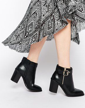 333cfad8088 Miss KG Janelle Buckle Heeled Ankle Boots | Rock Your Style! | Boots ...