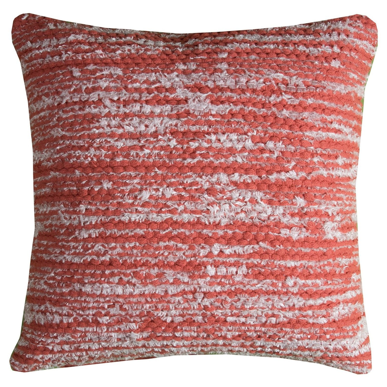 Rust stripes throw pillow x rizzy home rusted red rust