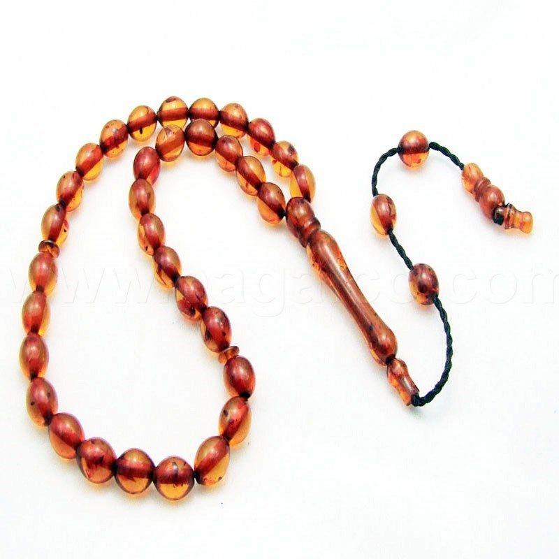 سبحة كهرمان عسلي ايغالكو Gemstones Jewelry Bracelets
