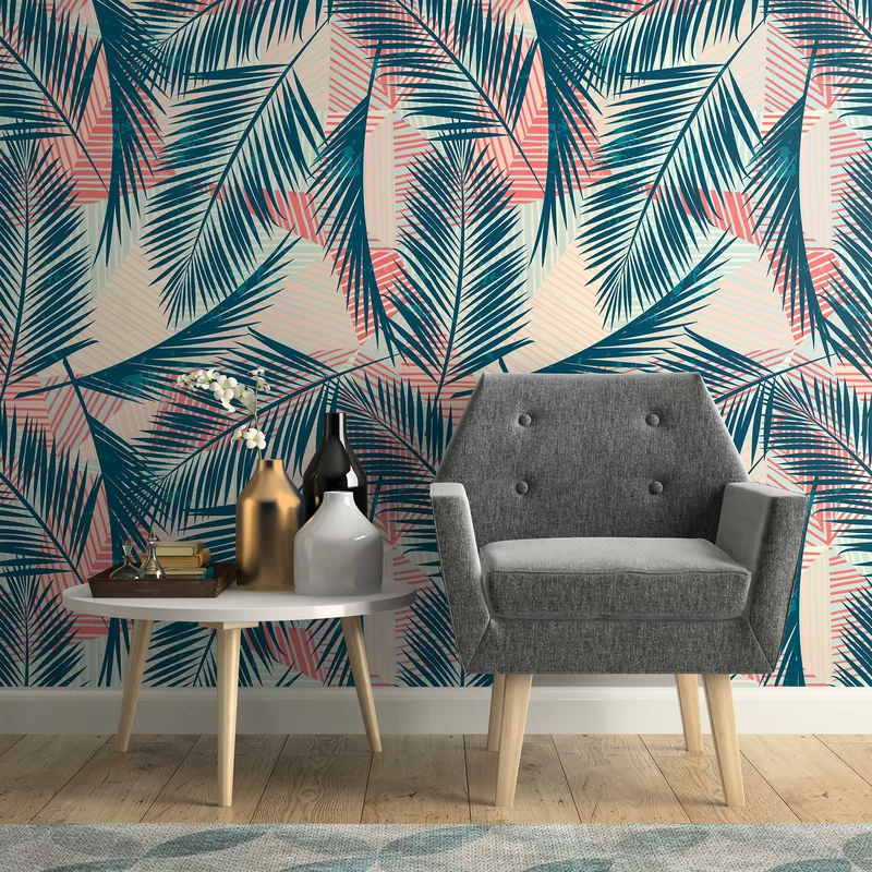 Mata Tropical Removable Peel And Stick Wallpaper Panel Removable Wallpaper Wallpaper Panels Tropical Wallpaper