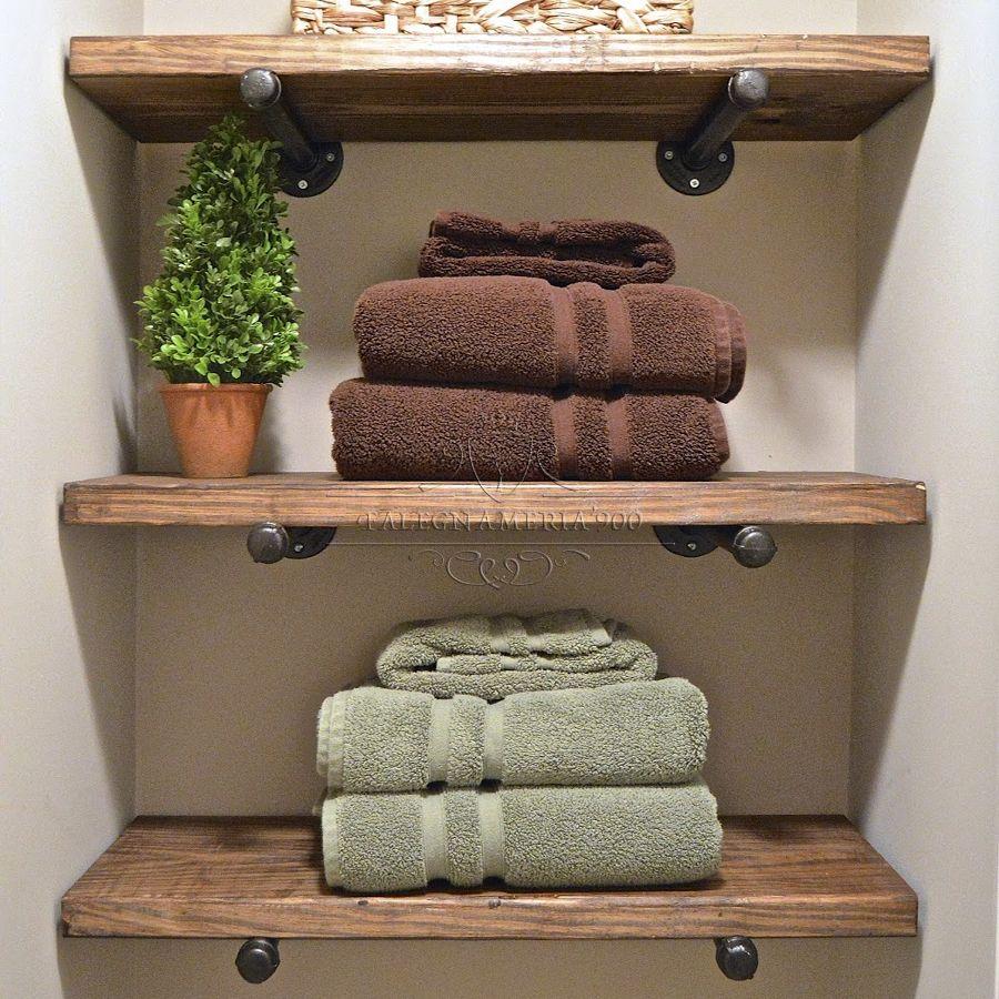 Mensole e Top in legno massello : Mensola da parete in legno ...