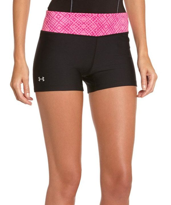 Look at this Under Armour® Black & Pink HeatGear® Sonic Shorty on #zulily today!
