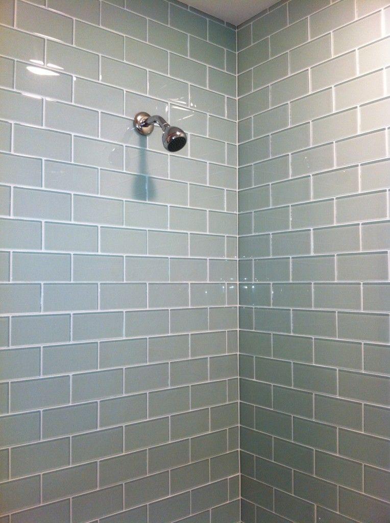 Exceptionnel MG Bath   Gray Glass Subway Tile Shower Surround At Alex Freddi