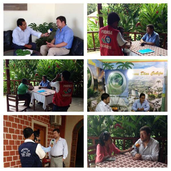 Diversos encuentros con los medios de comunicación de Cobija.