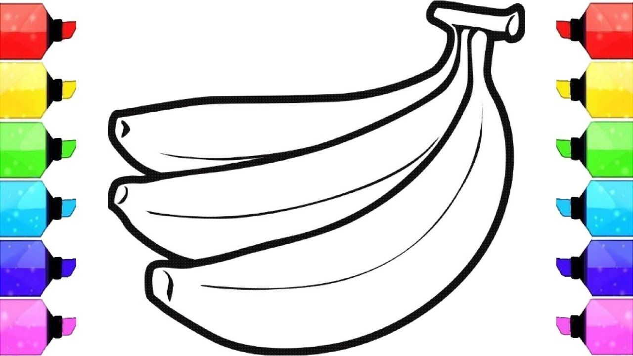 How to draw banana for kidsbanana drawing for kidsbanana