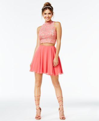 232c6c382d0 City Studios Juniors  2-Pc. Lace A-Line Dress