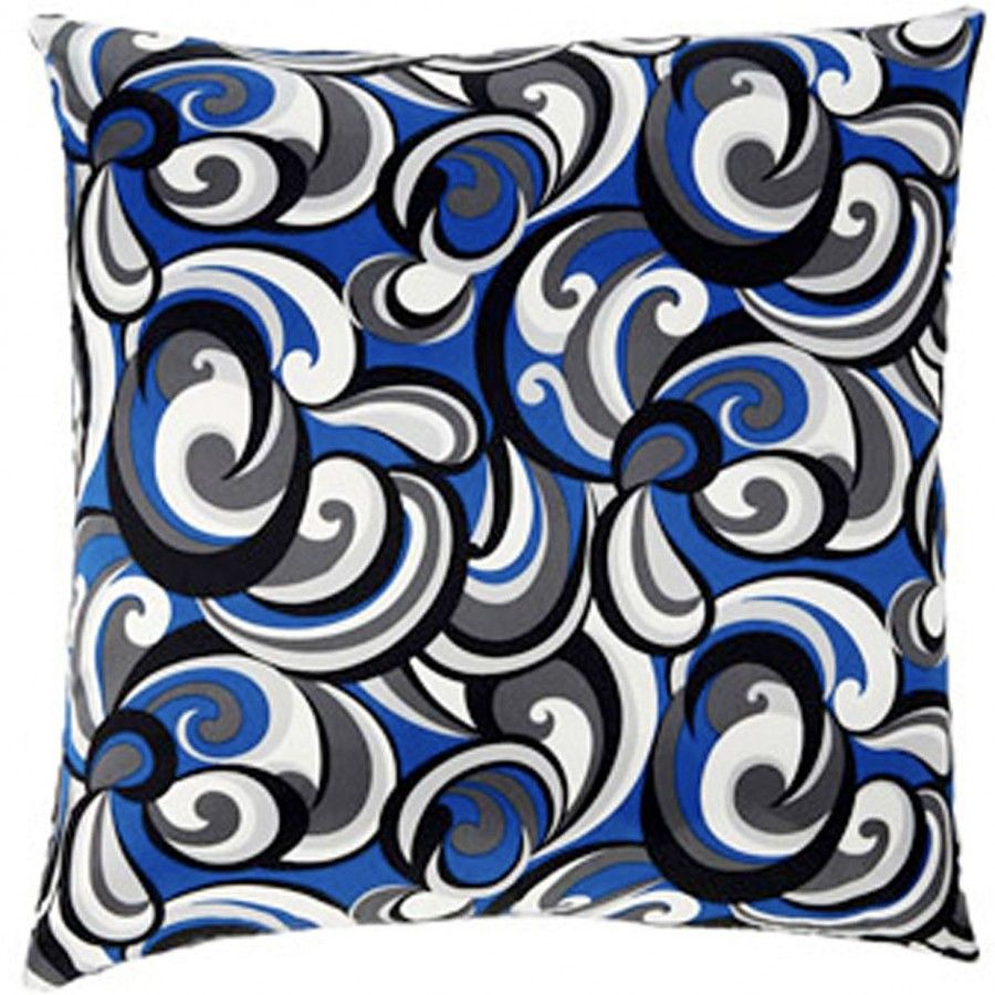 Jiti Pillows Faux Silk Swirl Square Decorative Pillow - 2020/IND/FS-SWRL