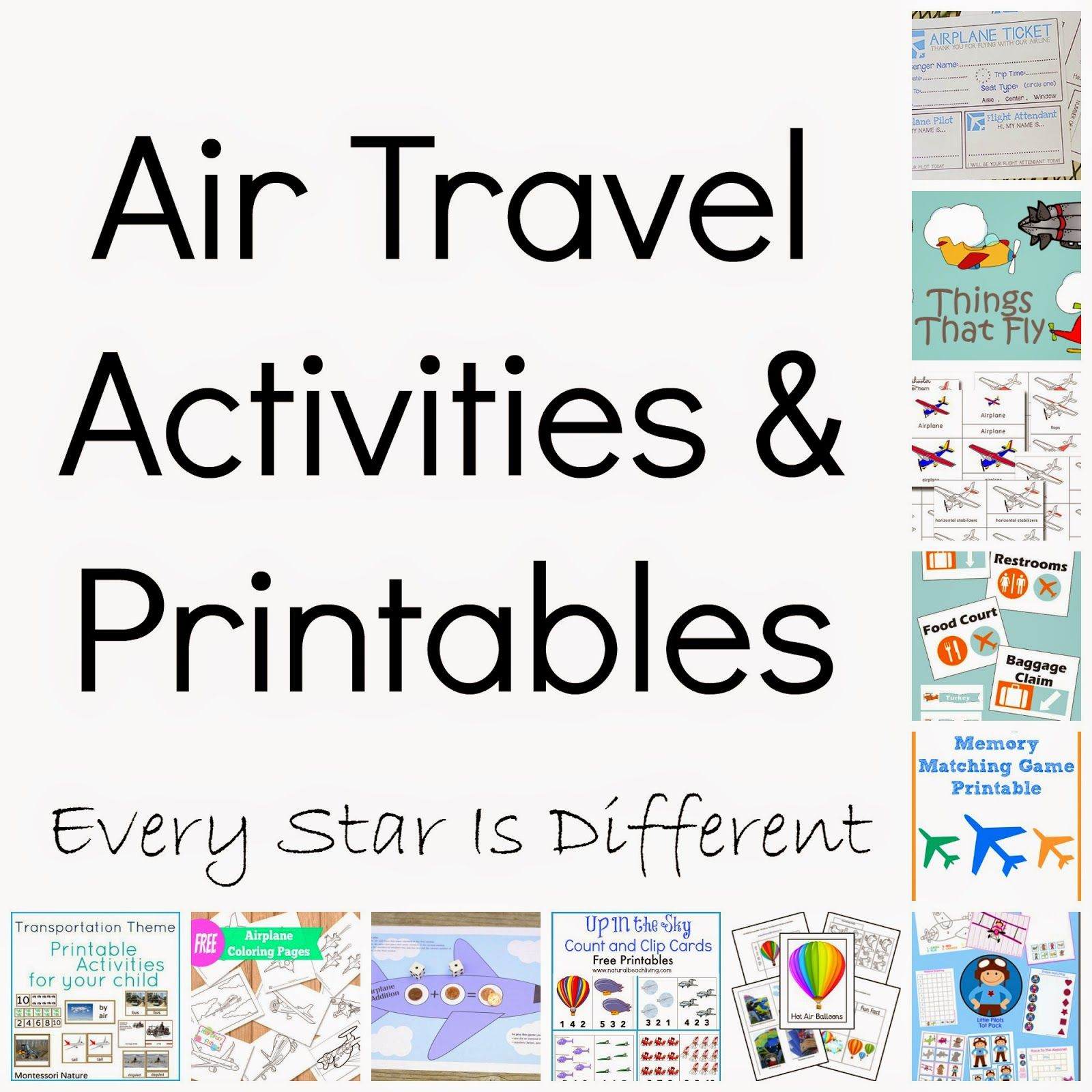 every star is different air travel activities u0026 printables klp