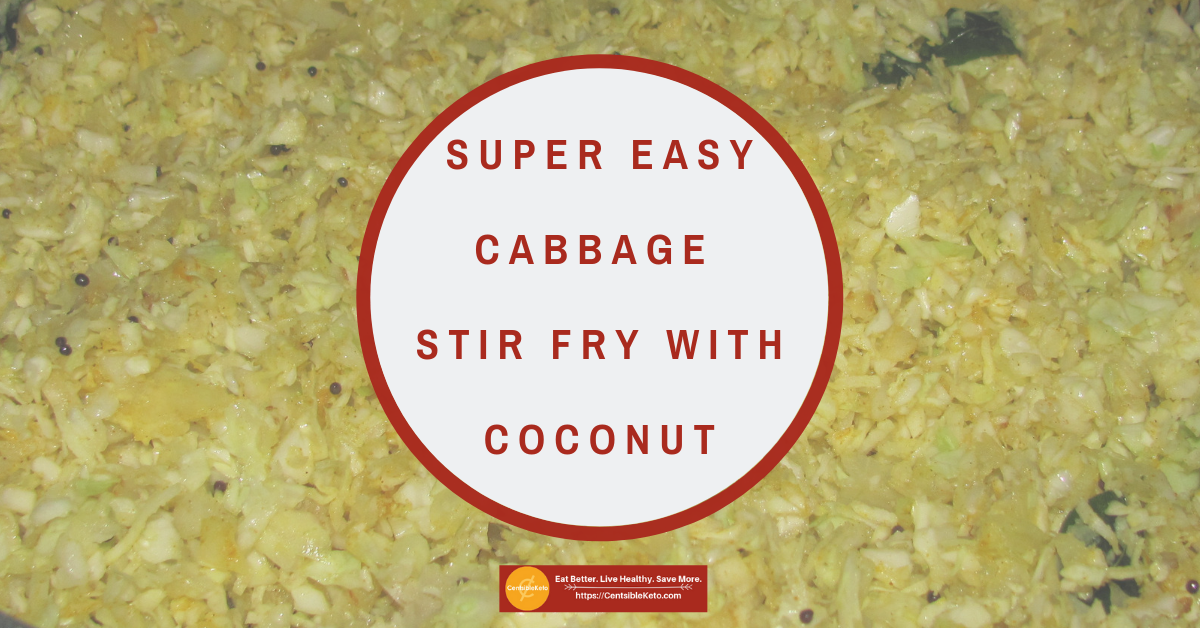 Super Easy Cabbage Stir Fry with Coconut #cabbagestirfry