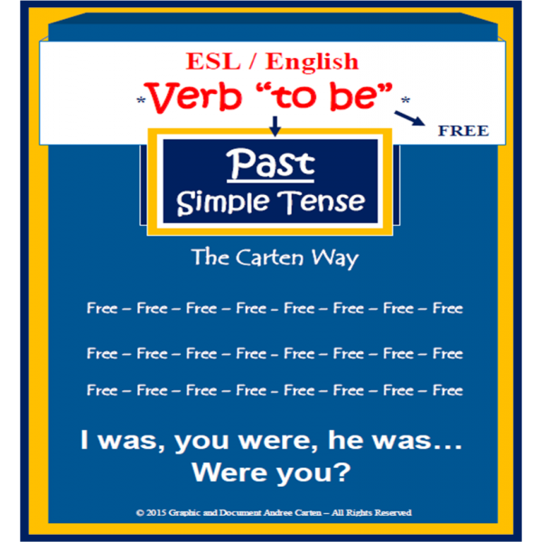 Esl Verb To Be Past Simple Tense Verbe Etre Verb To Be Past English Verbs How To Memorize Things