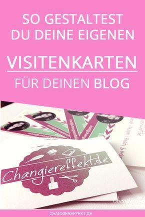Visitenkarten Für Den Blog Worauf Muss Ich Achten