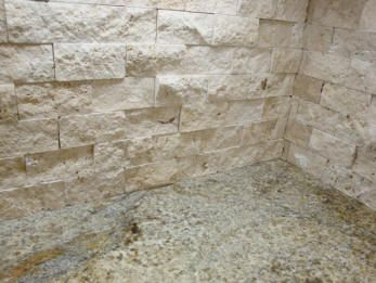 Split Face Travertine Backsplash Kitchen Gallery