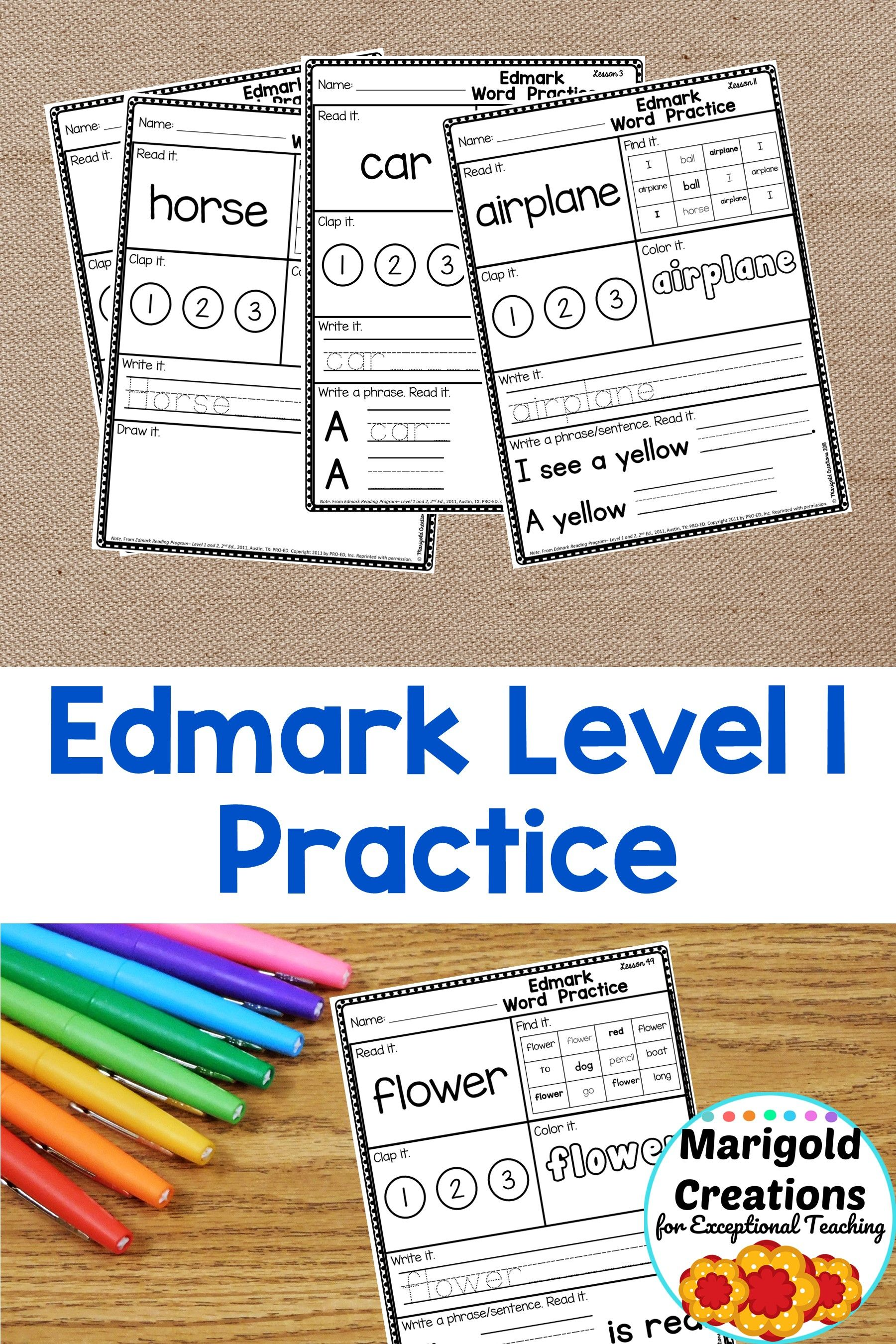 These Sight Word Practice Pages Are Perfect For
