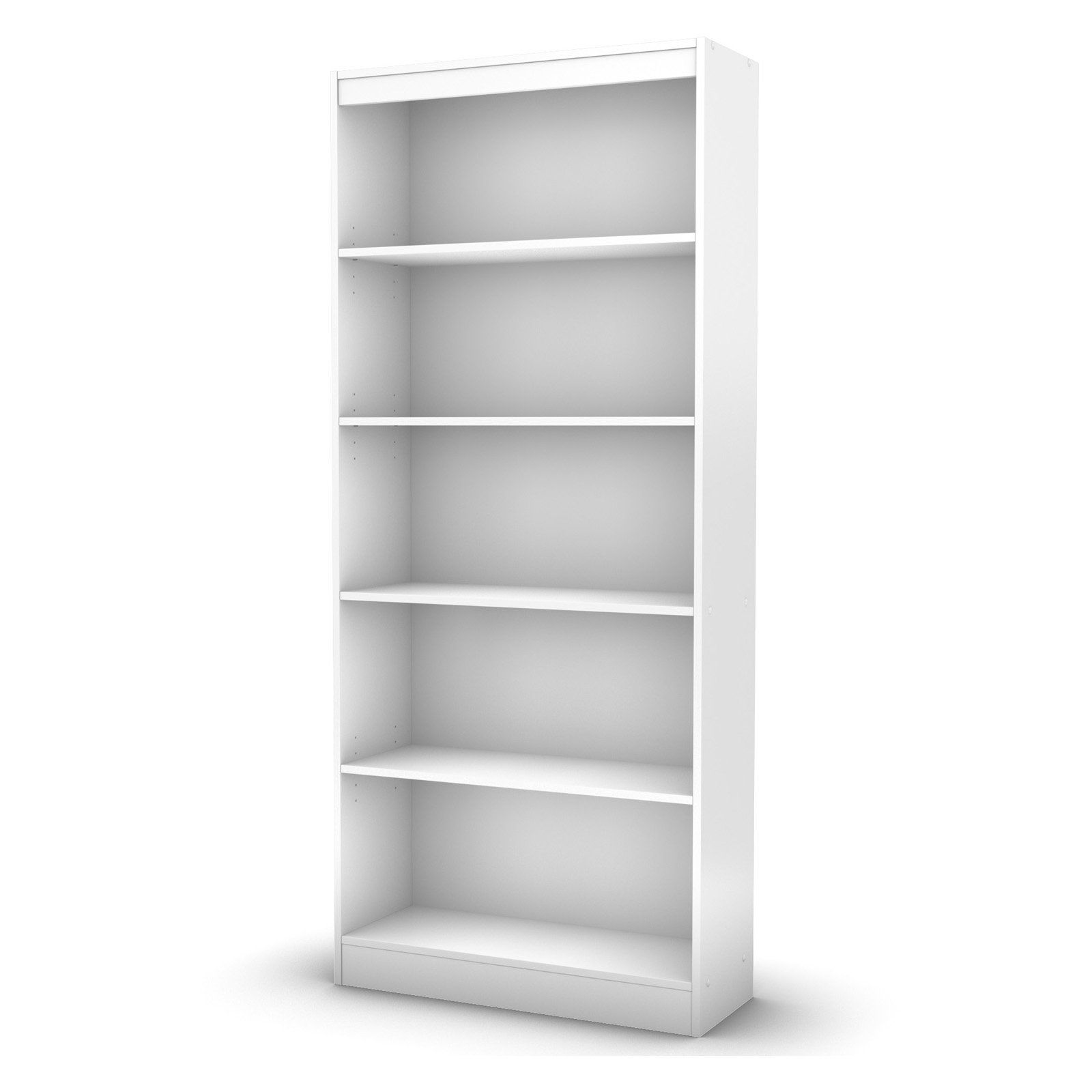 South S As Collection 5 Shelf Bookcase Pure White Www Hayneedle