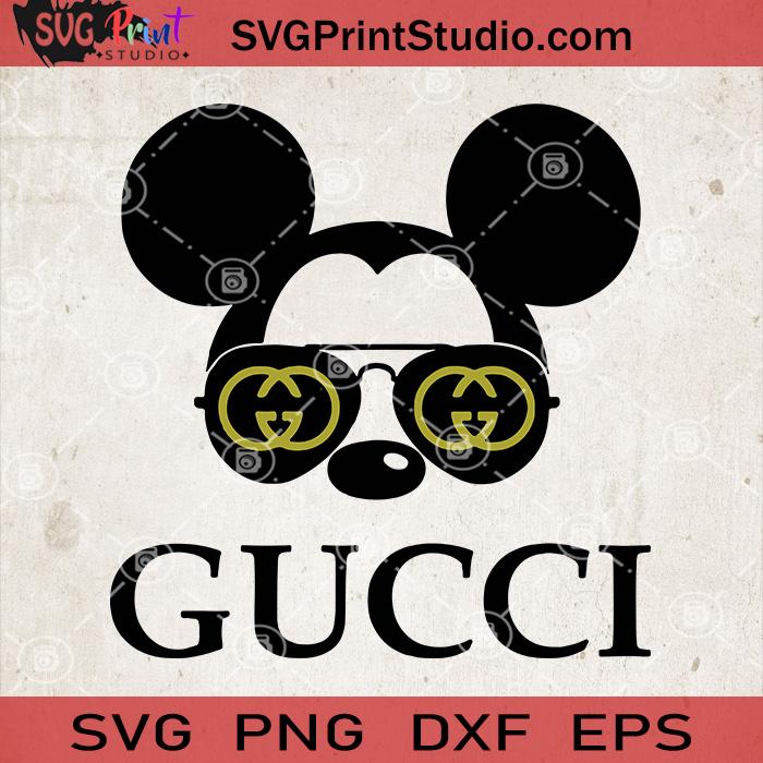 Mickey Gucci Svg Mickey Mouse Vector Disney Gucci Svg Svg Print Studio In 2020 Mickey Silhouette Disney Monogram Mickey