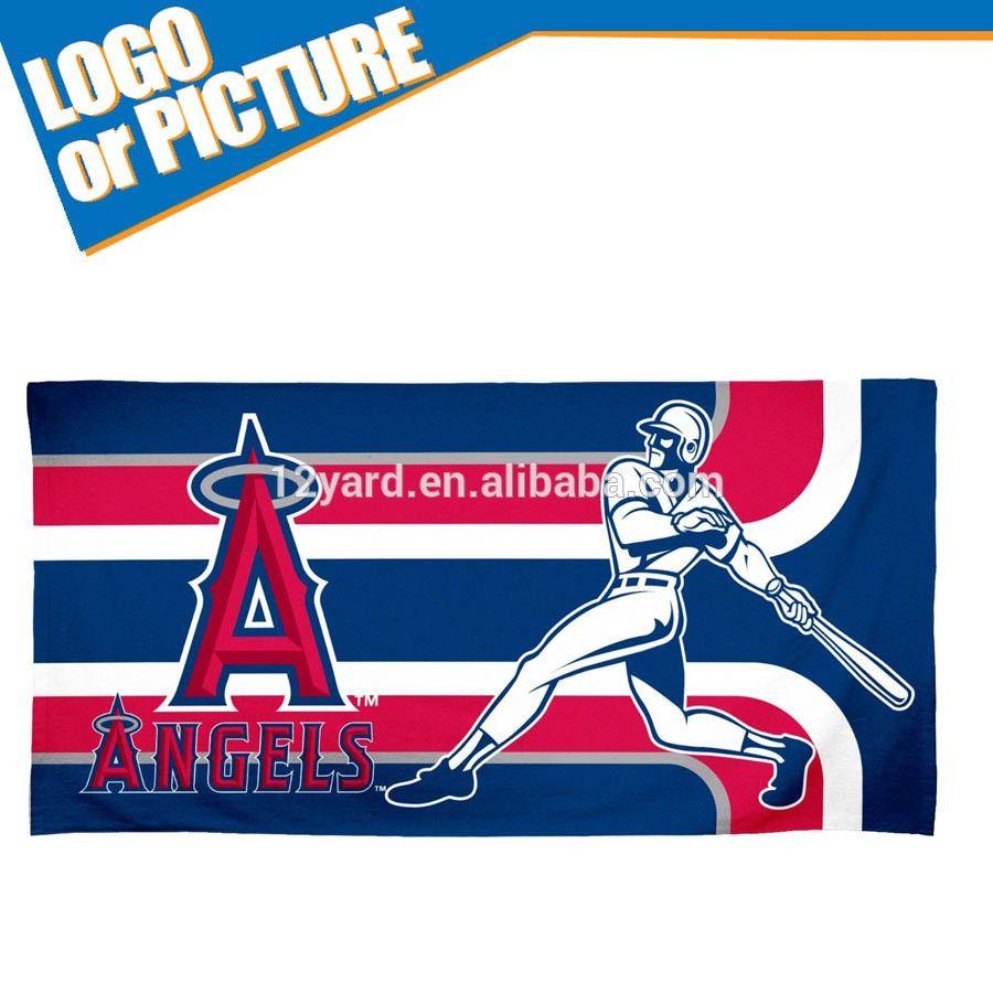 Wholesale Custom Printed Baseball Logo Towel Los Angeles Emblem