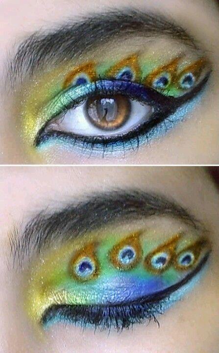 Peacock eye shadow!