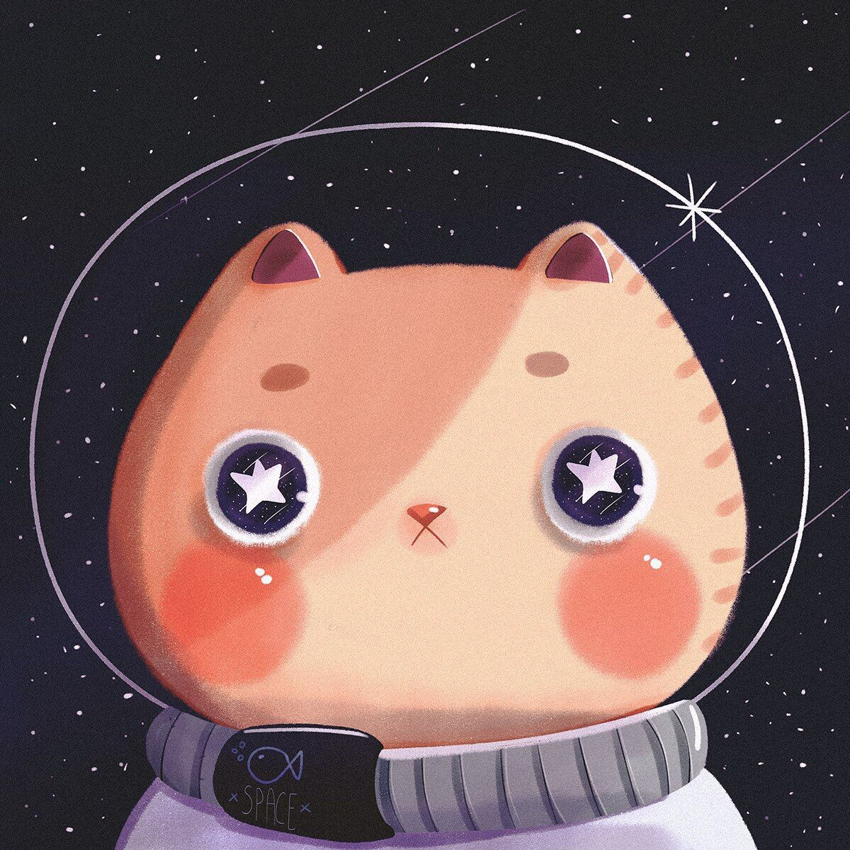 Картинки космос каваи