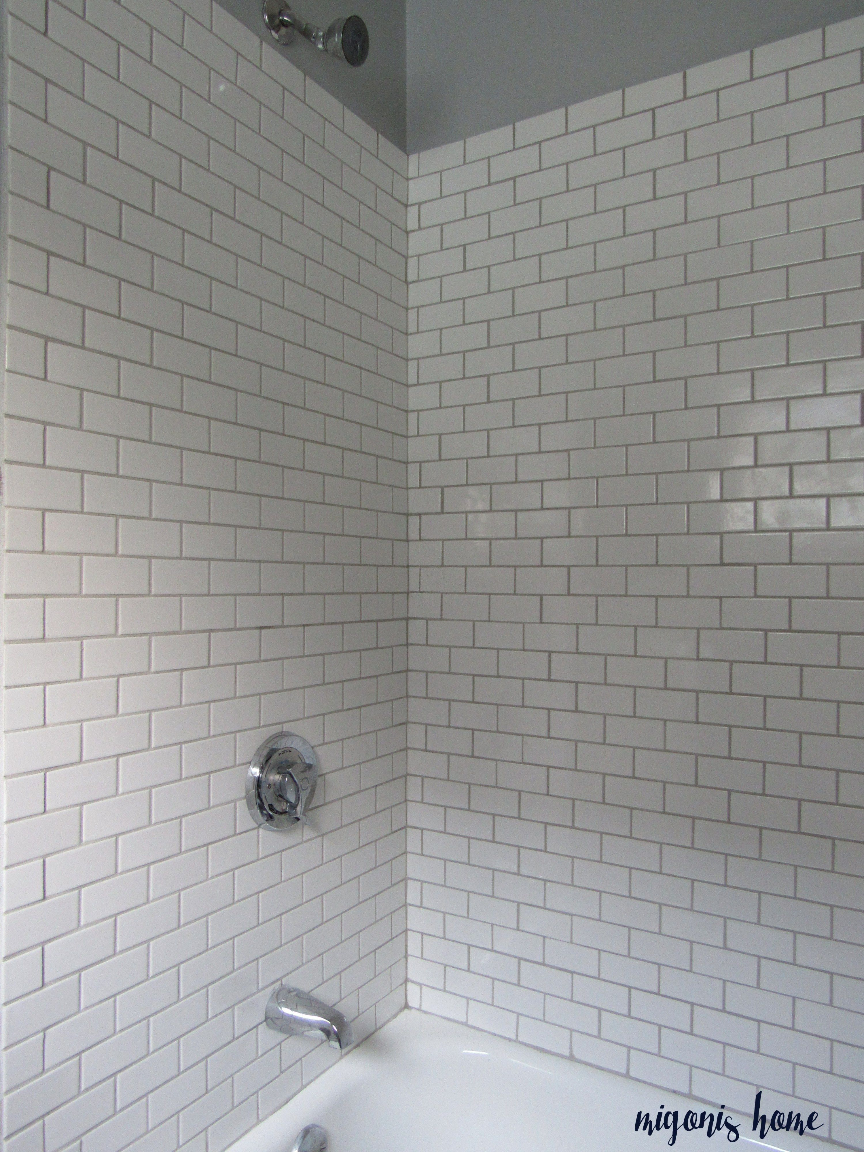 Oyster Gray Grout Bathroom Grout Color White Subway Tile Shower White Tiles Grey Grout