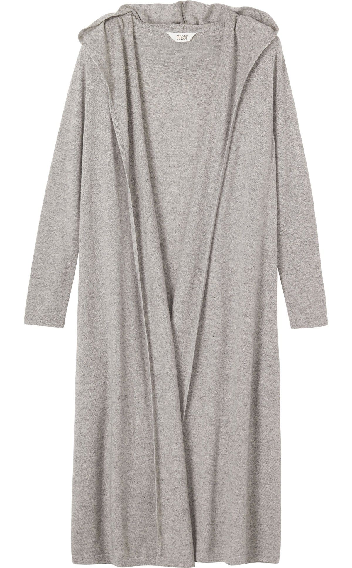 WOOL CASHMERE HOODED GOWN