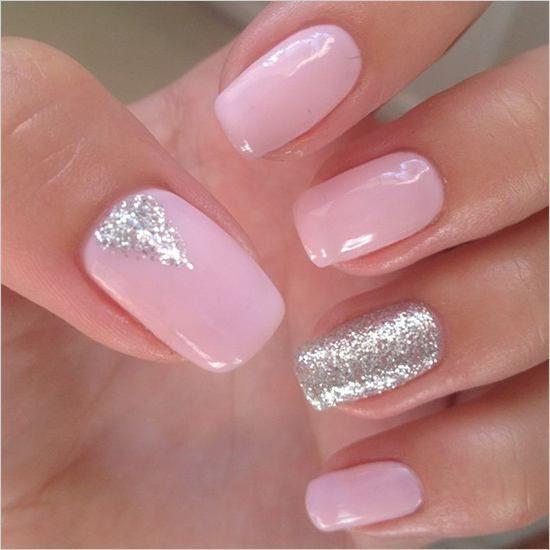 100 Delicate Wedding Nail Designs Pink Gel Nails Sparkle Gel Nails Pink Nail Art Designs