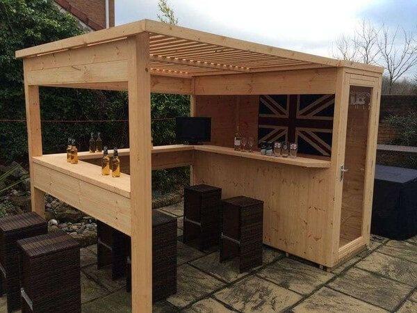 Shed Plans - abri de jardin a toit plat avec auvent terrasse - Now - abri local technique piscine