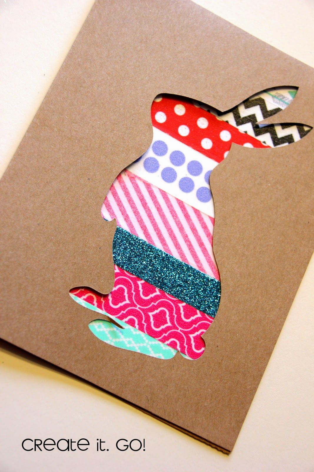Create It Go Papercrafting Cards With Washi Tape Easter Bunny