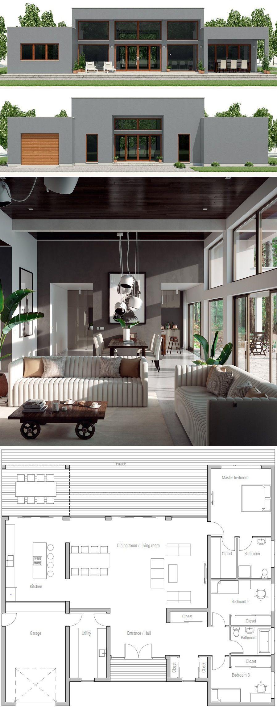House Design Ch531 New House Plans Contemporary House Plans Dream House Plans