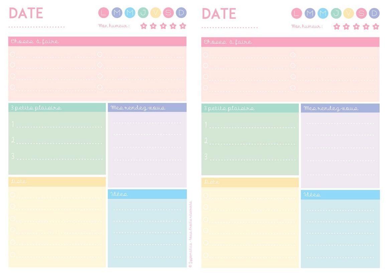 Extrem Planning journalier. | DIY : rangements, créations  | Pinterest  PF56