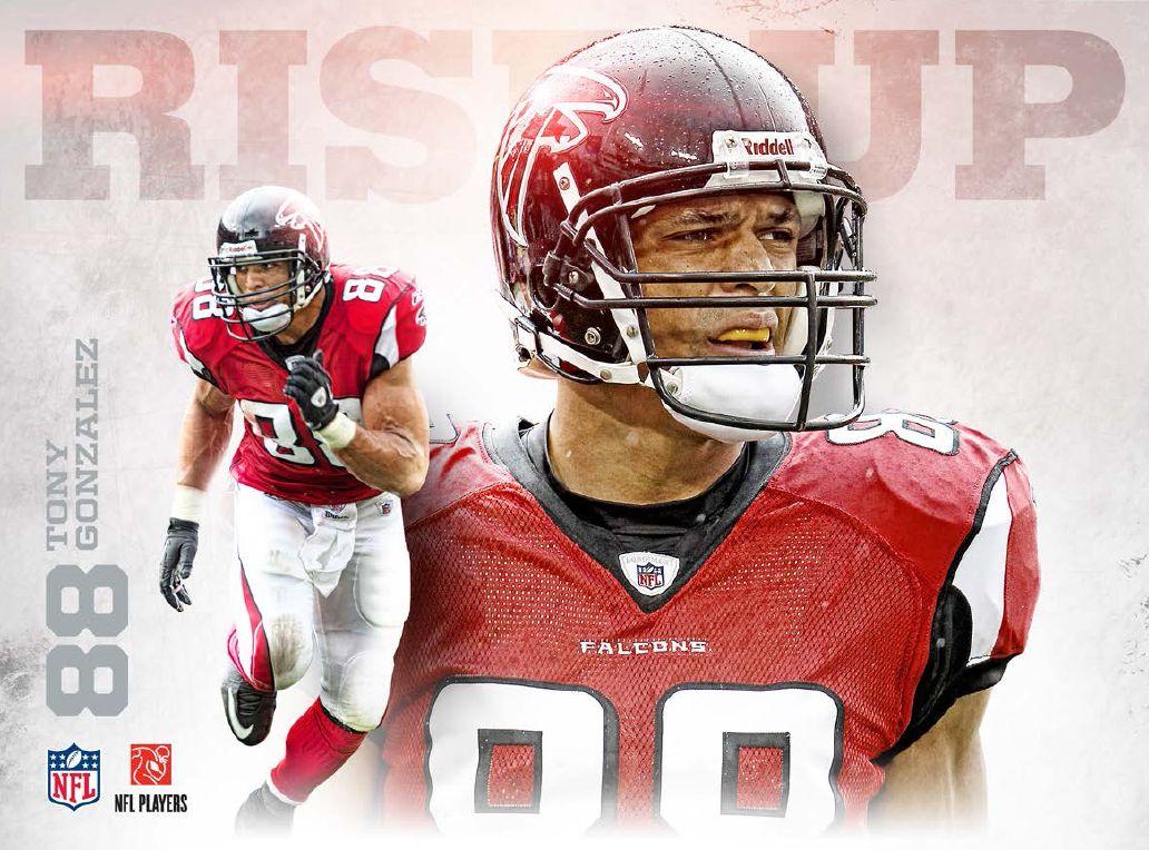 9 4 9 7 Tony Gonzalez Atlanta Falcons Football Falcons Football Atlanta Falcons