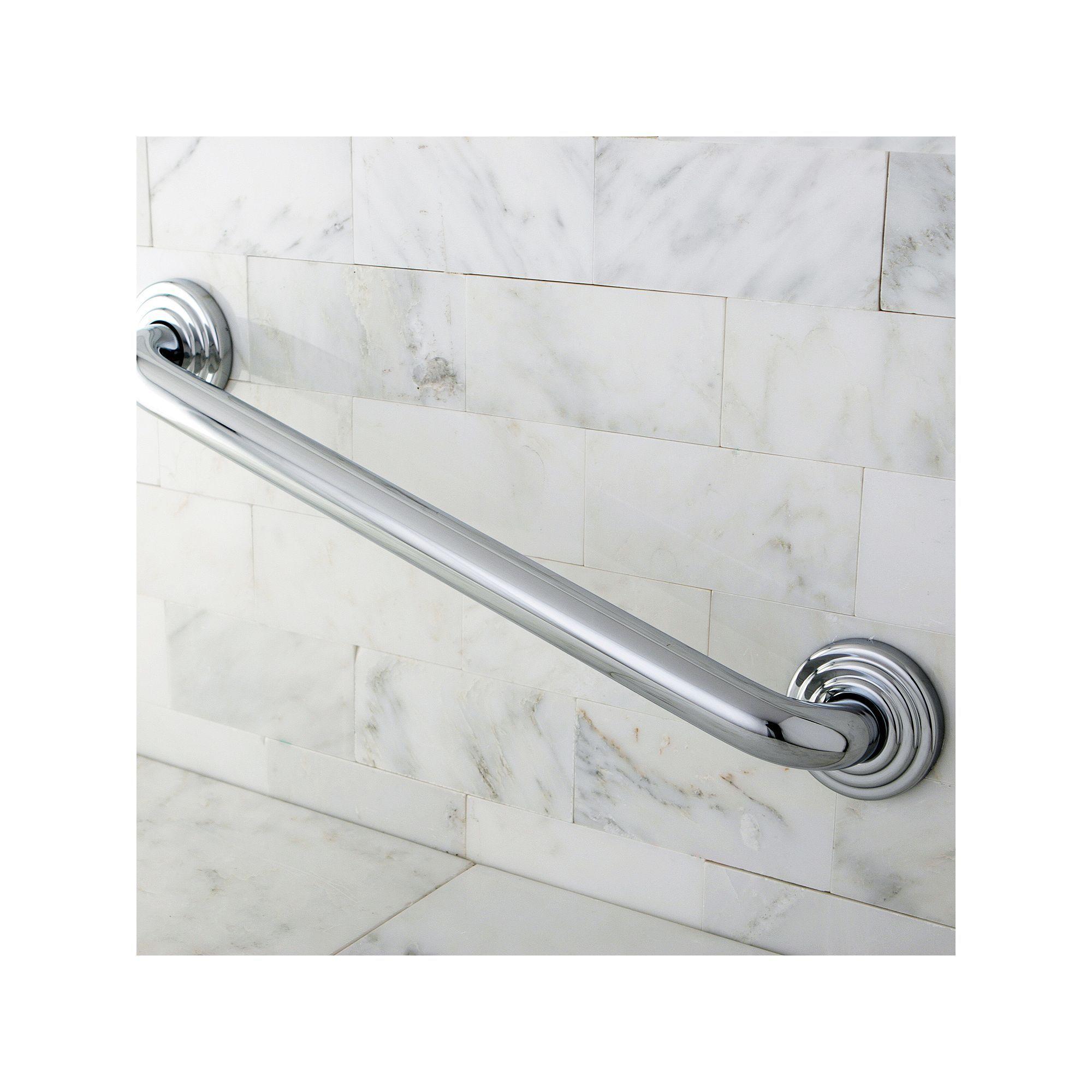 Chromefinish bathtub grab bar uu grey grab bars and products