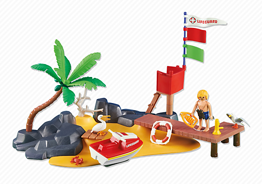Beach With Lifeguard Stand Pm Usa Playmobil Usa Playmobil