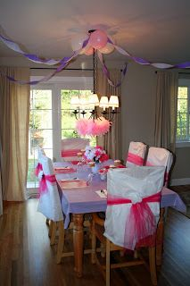Cover Folding Chair Backs With 1/4 Plastic Tablecloth U0026 Tulle