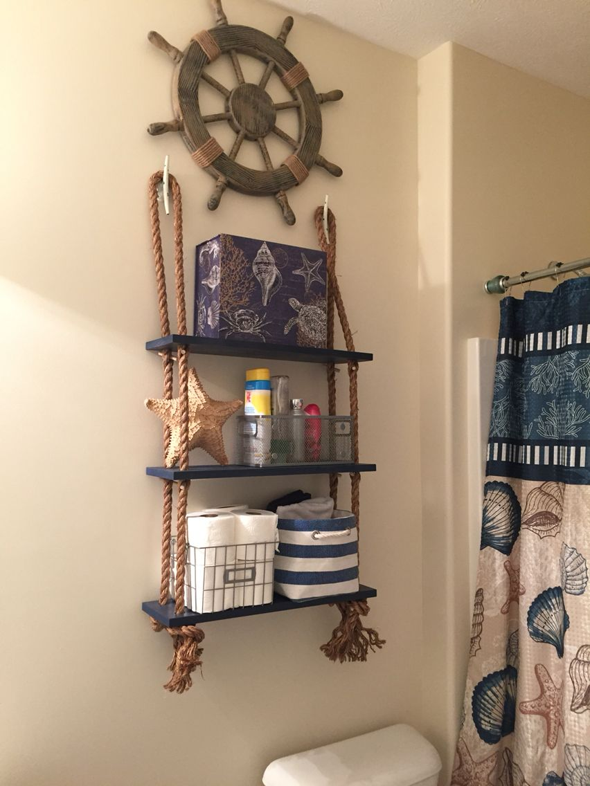 Nautical Shelving Anchor Bathroom Decor Nautical