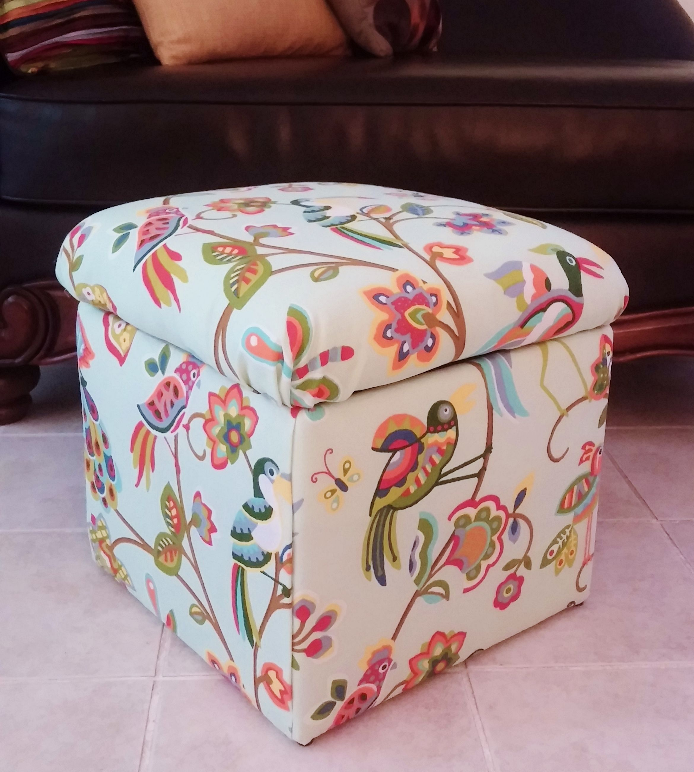 Outstanding Recovered Cheap Storage Cube With Cute Upholstery Fabric Pabps2019 Chair Design Images Pabps2019Com