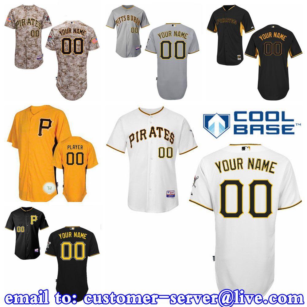 custom mens womens youth pittsburgh pirates josh harrison  andrew mccutchen baseball jersey 2015 new cool base double stitched