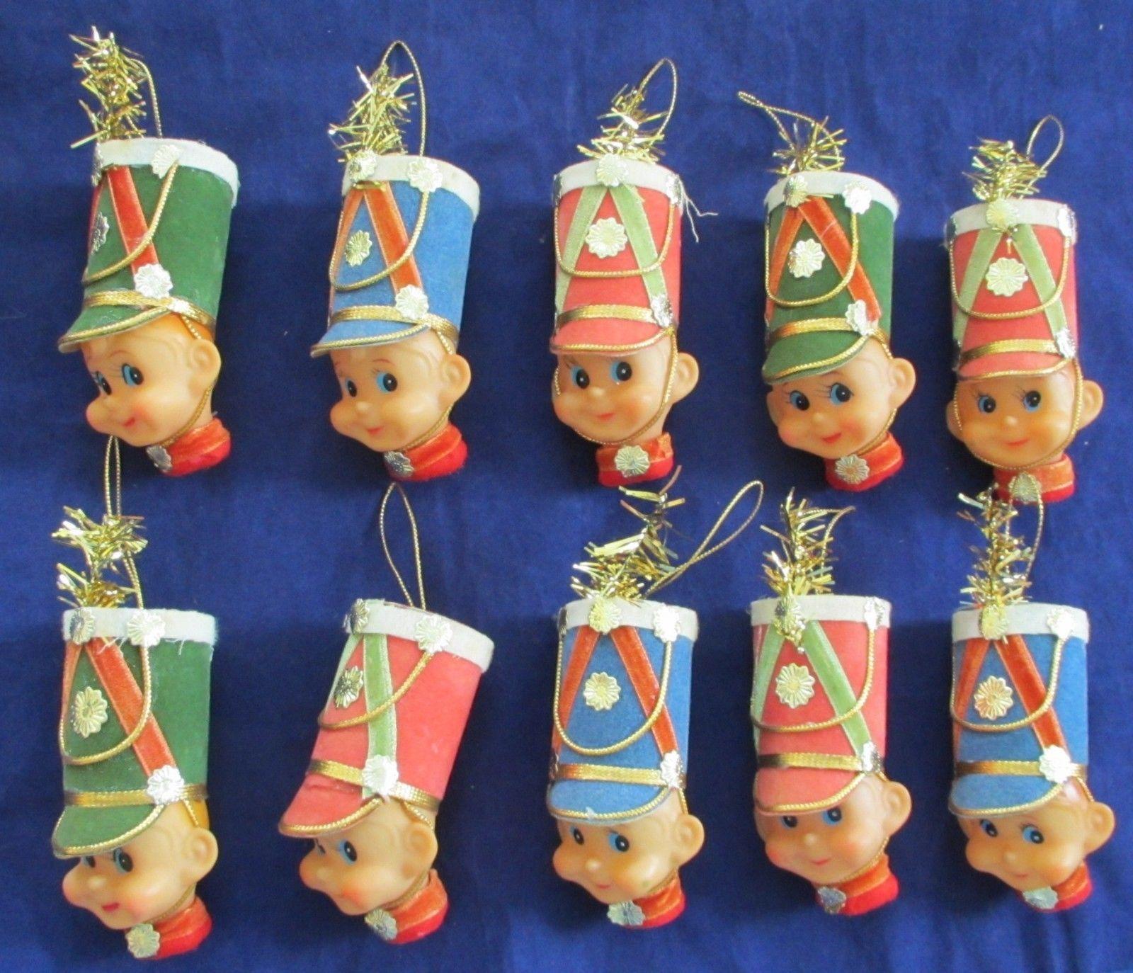 Vintage Japan Felt Drummer Elves Christmas Ornament Or Light Covers Set Of 10 Picclick Com Christmas Ornaments Retro Christmas Vintage Christmas