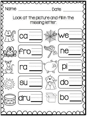 Buzzing Around With Ending Sounds And Other Insect Bug Themed Activities Phonics Kindergarten Phonics Worksheets Phonics Beginning and ending sounds worksheet