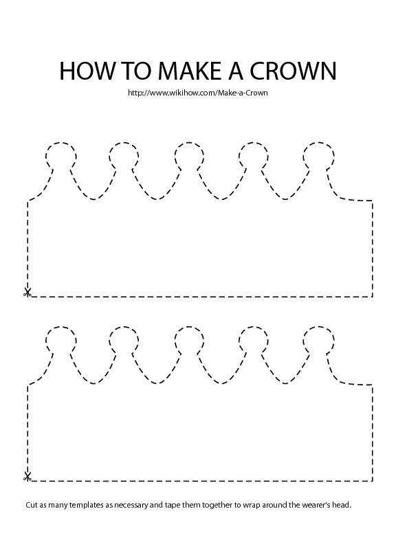 Make a Crown Template templates Pinterest Crown template - crown template
