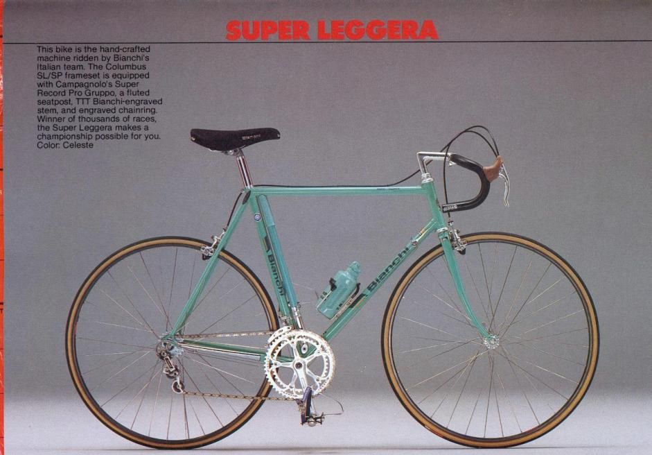 Bianchi Bicycle Catalog 80s In 2020